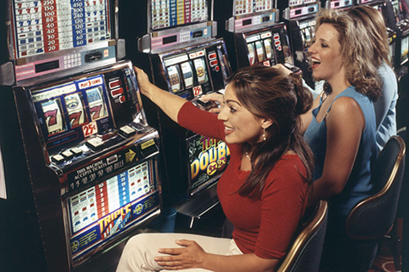 Woman slot machine